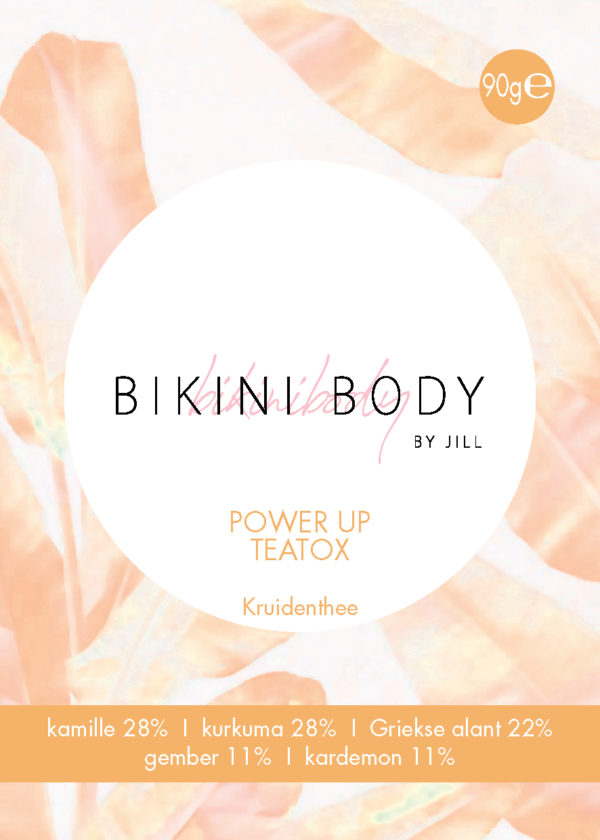Bikinibody POWER UP TEATOX label front